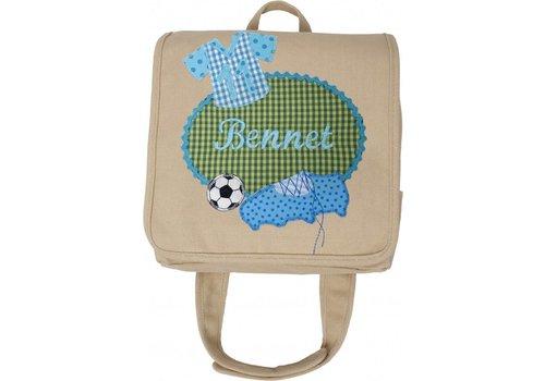 crêpes suzette crêpes suzette Kindergartentasche mit Namen bestickt für echte Fussballfans