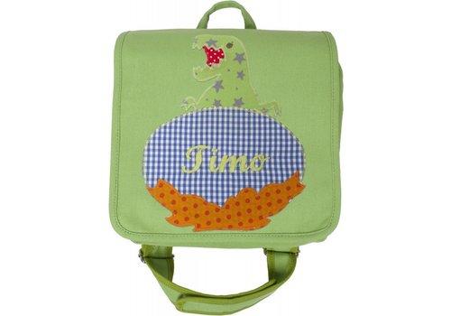 crêpes suzette crêpes suzette Kindergartentasche mit Namen bestickt mit Dino
