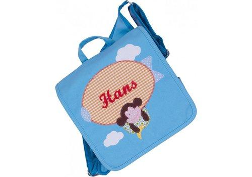 crêpes suzette crêpes suzette Kindergartentasche mit Namen bestickt - zum Kinderrucksack wandelbar. Motiv: Zeppelin und Affe