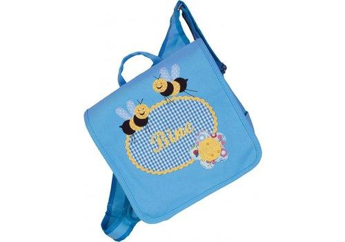 crêpes suzette crêpes suzette Kindergartentasche mit Namen bestickt - zum Kinderrucksack wandelbar.Motiv: Biene
