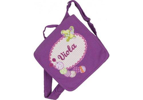 crêpes suzette crêpes suzette Kindergartentasche wandelbar zum Rucksack mit Namen bestickt. Raupe