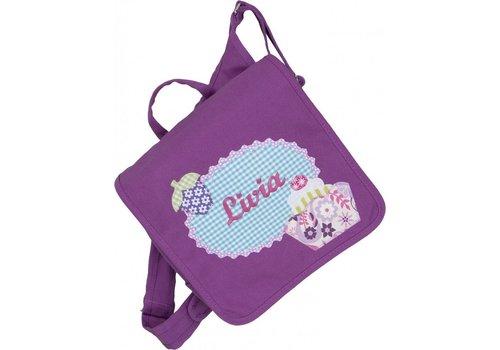 crêpes suzette crêpes suzette Kindergartentasche wandelbar zum Rucksack mit Namen bestickt. Cupcake