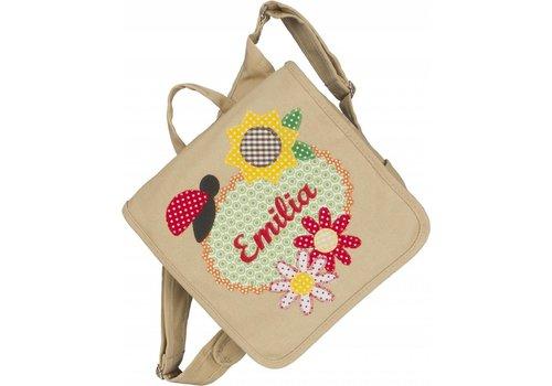 crêpes suzette crêpes suzette Kindergartentasche wandelbar zum Rucksack mit Namen bestickt Flower Power