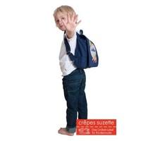 Kindergartentasche mit Namen bestickt wandelbar zum Kinderrucksack. Erdbeere