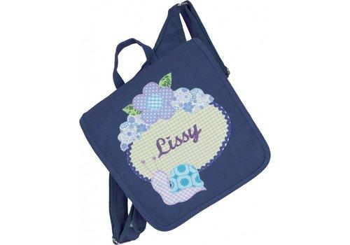crêpes suzette crêpes suzette Kindergartentasche mit Namen bestickt wandelbar zum Kinderrucksack. Schnecke