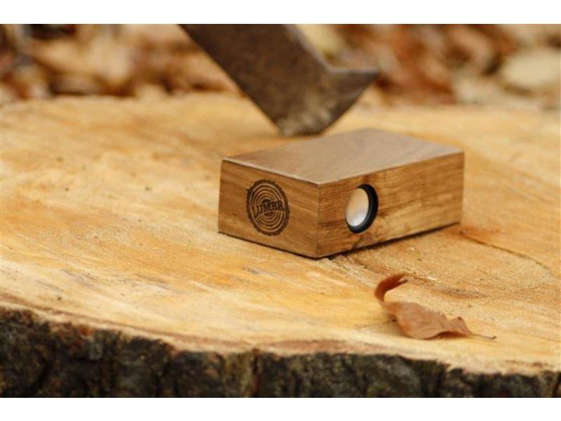 Lumbr Beatblok Walnoot - Houten inductie speaker voor mobiel