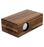 Lumbr Beatblok Zebra - Houten inductie speaker voor mobiel