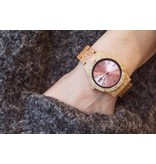Lumbr Wooden Watch Aurora Shiny Pink Koa