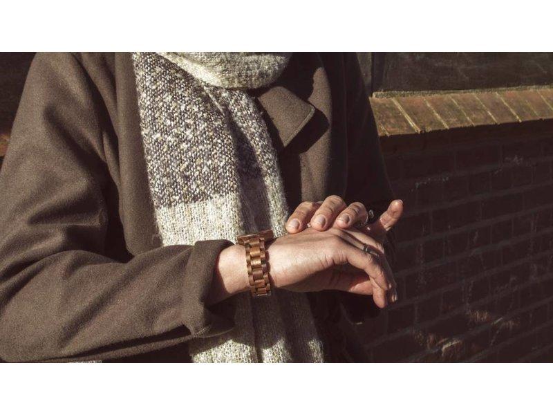 Lumbr T1M3 walnoot hout horloge (small)