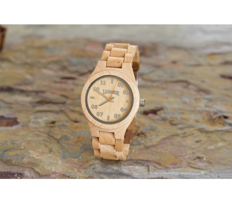 Wooden Watch T1M3 Maple Small