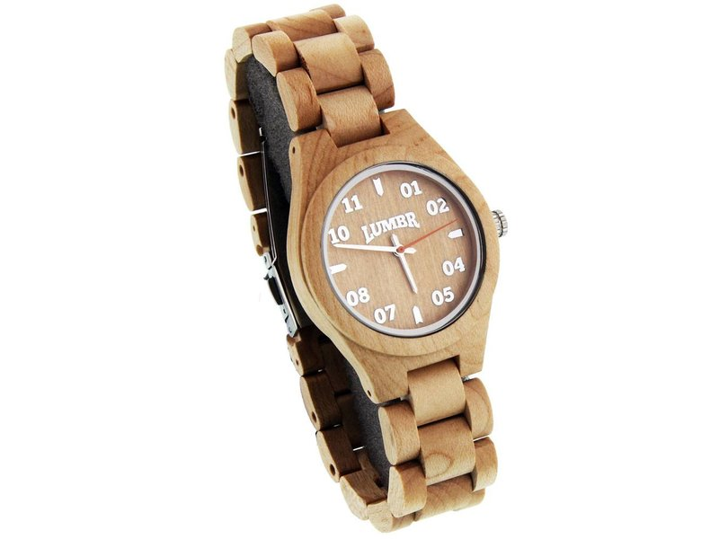 Lumbr Wooden Watch T1M3 Maple Small