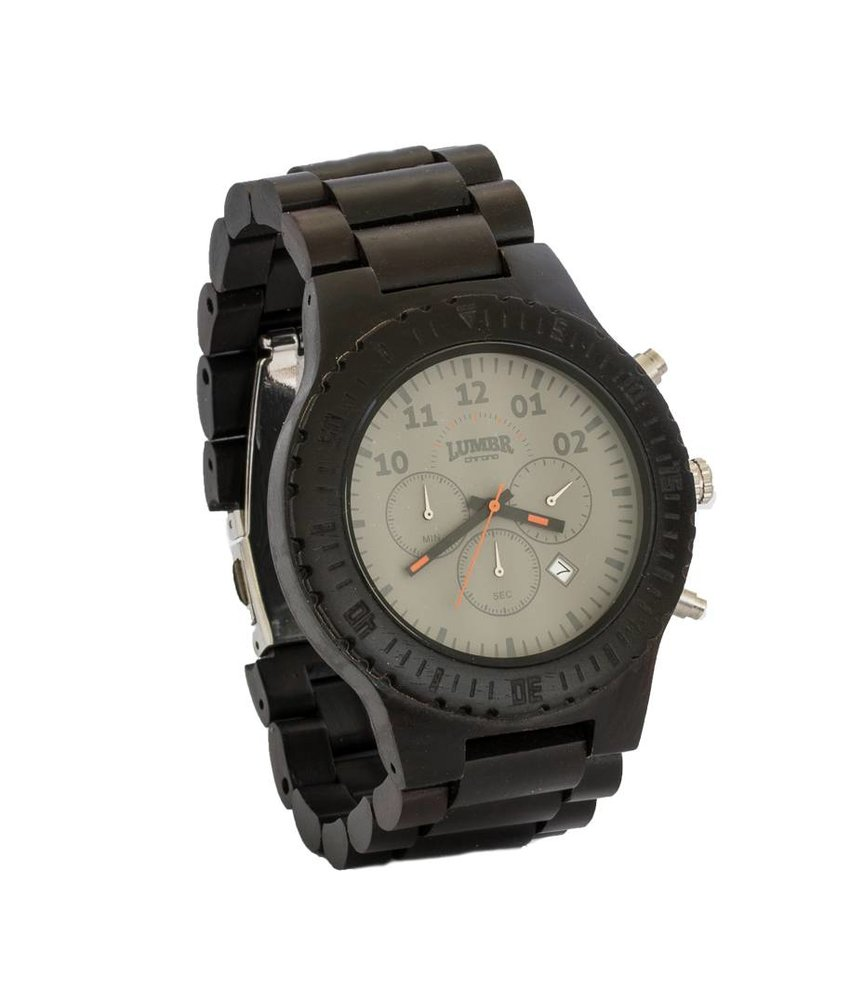 Wooden Watch Chrono Ebony