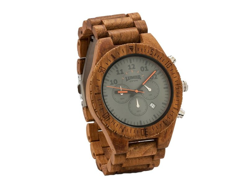 Lumbr Wooden Watch Chrono Teak