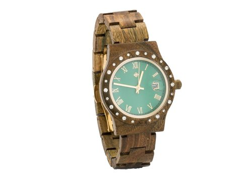 Lumbr Wooden Watch Aurora Matt Green Sandalwood