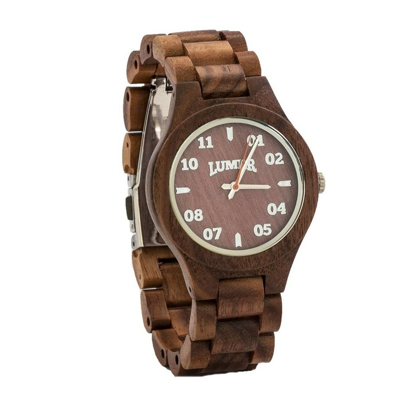 T1M3 walnoot hout horloge (small)