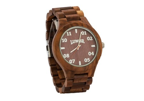 Lumbr Wooden Watch T1M3 Walnut Large