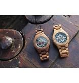 Lumbr Troy watch - Kinetic. Van walnoothout met gouden binnenwerk | Lumbr