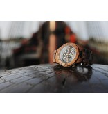 Lumbr Troy Uhr Mechanisch - Walnuss holz, mit Gold