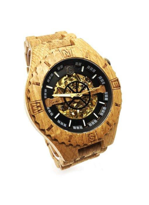 Troy watch - van eikenhout met gouden binnenwerk | Lumbr