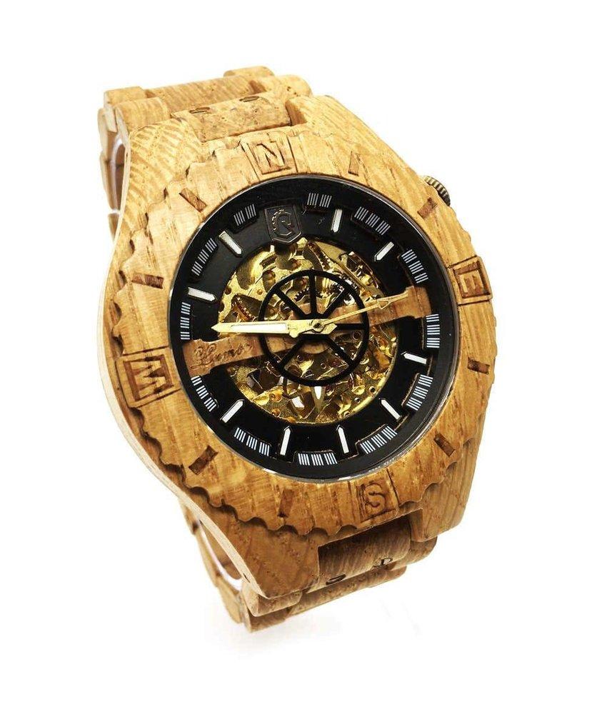 Troy Uhr Mechanisch - Eichen Gold