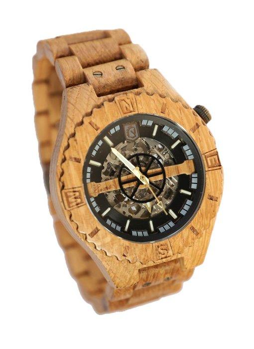 Troy watch - van eikenhout met zilver binnenwerk | Lumbr