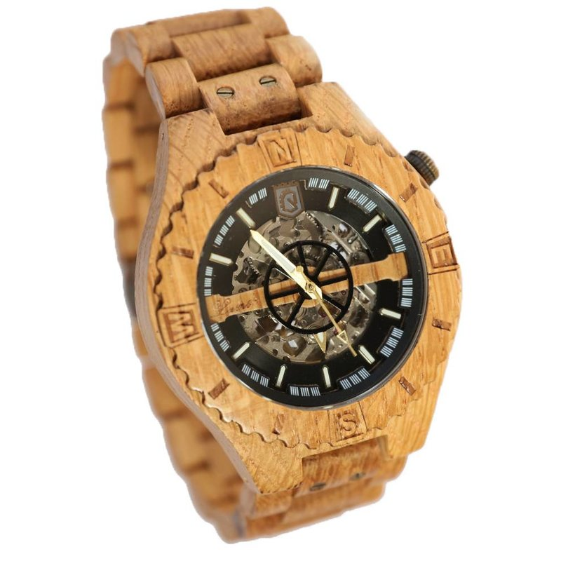 Troy Mechanical wooden watch - Copy