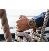 Lumbr Troy watch - Kinetic. Van eikenhout met zilver binnenwerk | Lumbr
