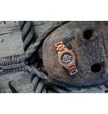 Lumbr Troy watch - Kinetic.  Van walnoothout met zilver binnenwerk | Lumbr