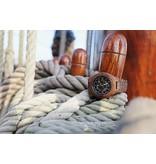 Lumbr Troy Mechanical wooden watch - Walnut wood, Silver movement