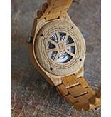 Lumbr Troy watch - Kinetic. Van eikenhout met gouden binnenwerk | Lumbr