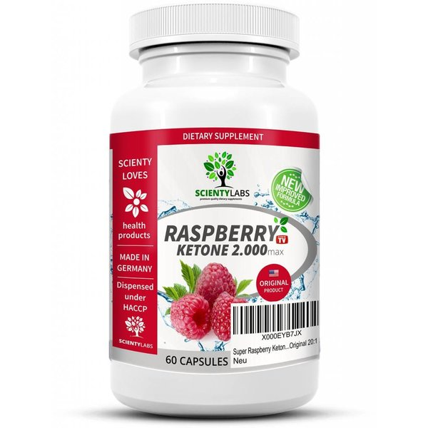 Super Raspberry Ketone 2000. Das US Original von ScientyLabs.