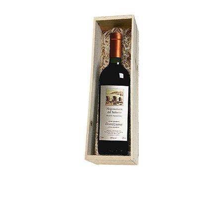 Cantine Due Palme  Negroamaro del Salento 1 fles in houten kist