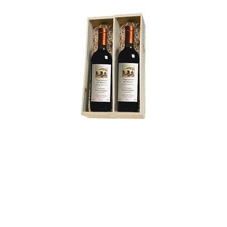 Cantine Due Palme  Negroamaro del Salento 2 flessen in houten kist