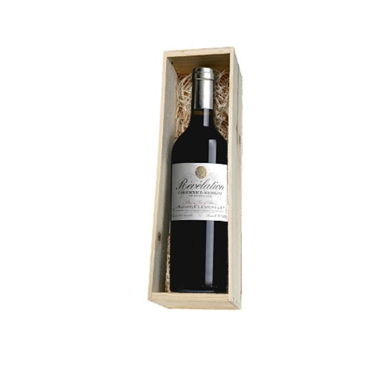 Revelation Cabernet/Merlot 1 fles in houten kist