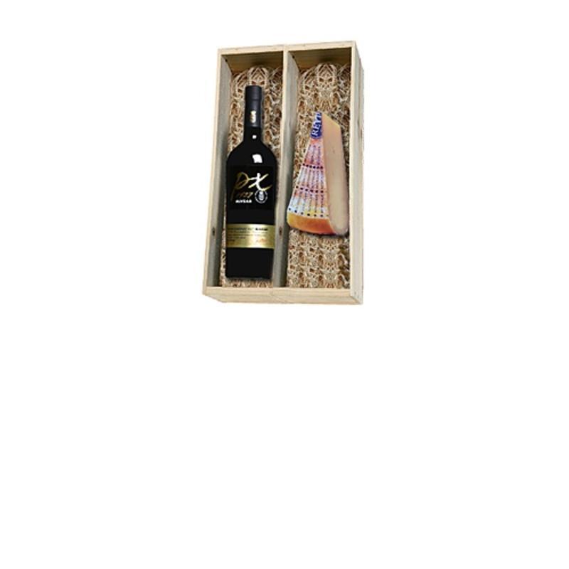 Alvear PX Solera 1927 en Reypenaar 2 jaar oude kaas in houten kist