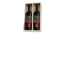 Squinzano 2 flessen in houten kist