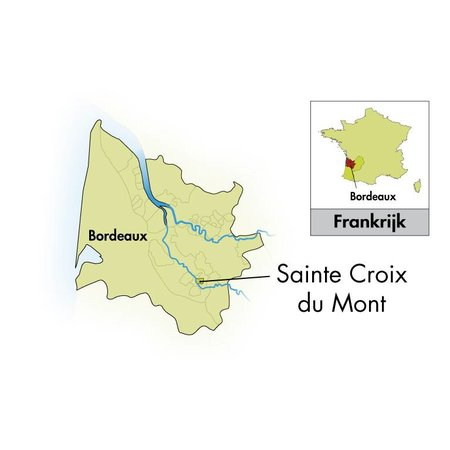 2009 Ch'ateau des Tours Sainte Croix du Mont half bottle