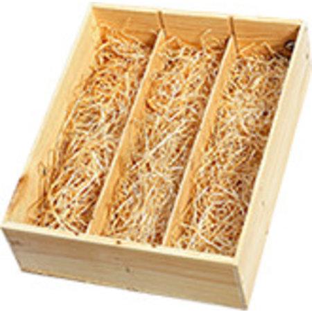 Wooden gift box 3 bottles