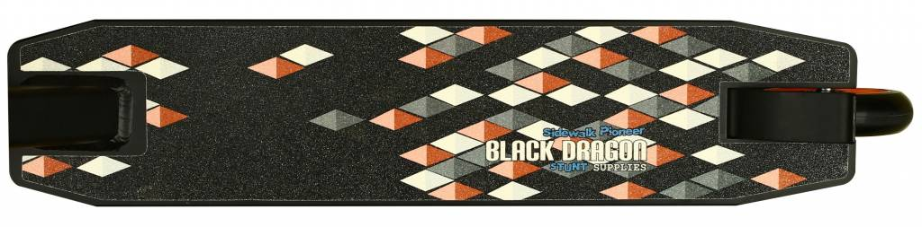BLACK DRAGON BLACK DRAGON STUNTSTEP ZWART/FLUORORANJE