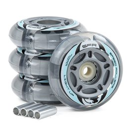 SFR SFR LIGHT UP INLINE WHEELS, SILVER