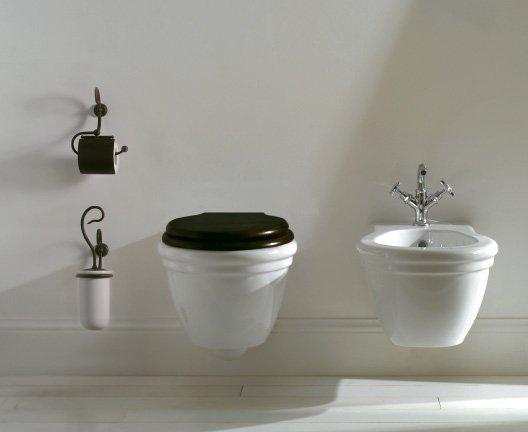 globo paestum wandhalterung mit keramik wc b rstenhalter cod pa042. Black Bedroom Furniture Sets. Home Design Ideas