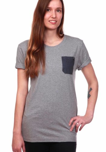 WDN | Blue Eye Pocket T-Shirt | Grau