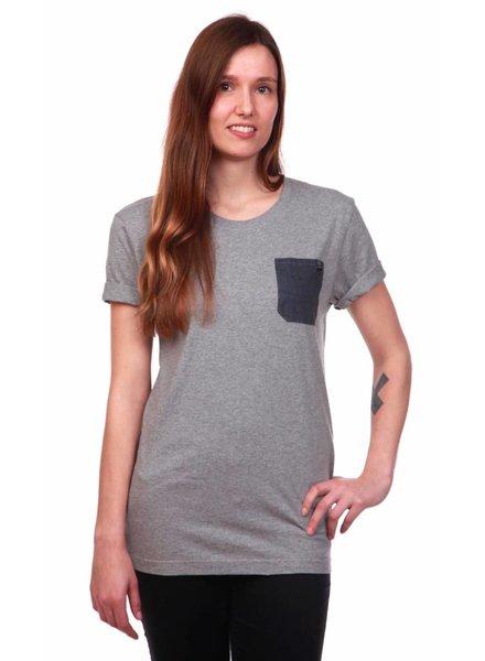 We Do Nothing WDN | Blue Eye Pocket T-Shirt | Grau