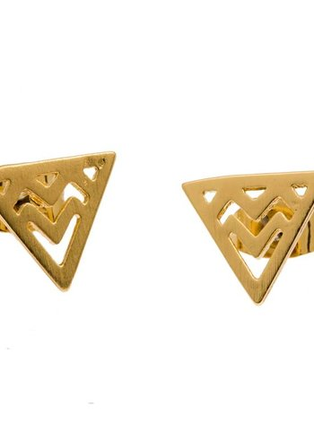 timi of Sweden I Chevron triangle earrings I Gold