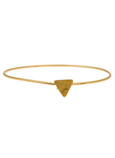 timi of sweden timi of Sweden I Triangle bangle I Gold