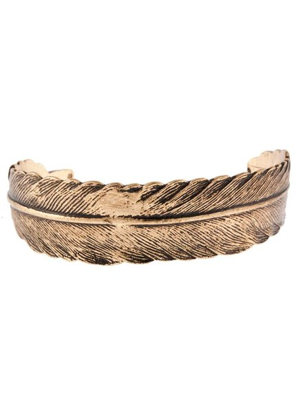 timi of sweden timi of Sweden I Feather cuff bracelet I Gold