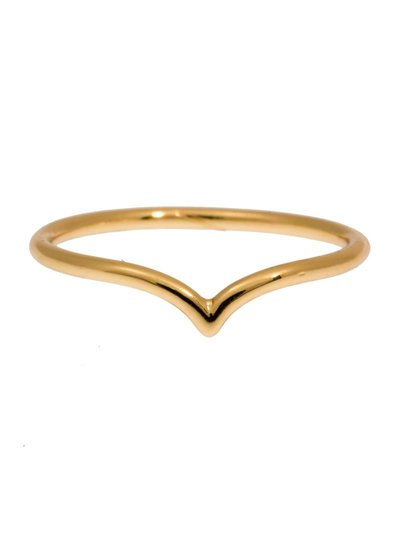 timi of sweden timi of Sweden I Chevron ring 15 I Gold