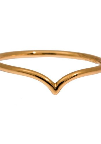 timi of Sweden I Chevron ring 17 I Gold