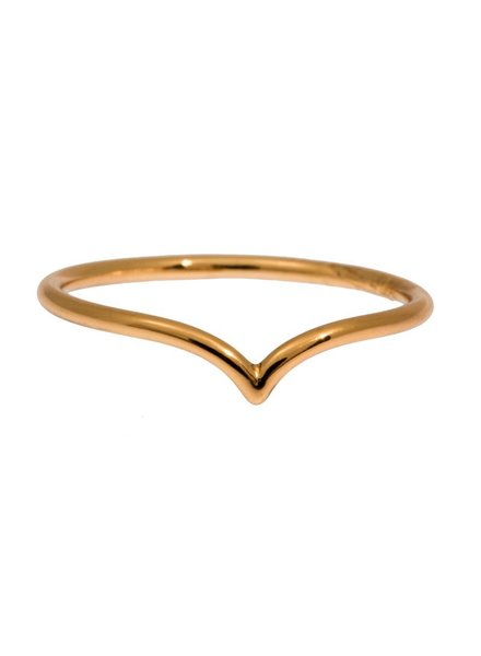 timi of sweden timi of Sweden I Chevron ring 17 I Gold