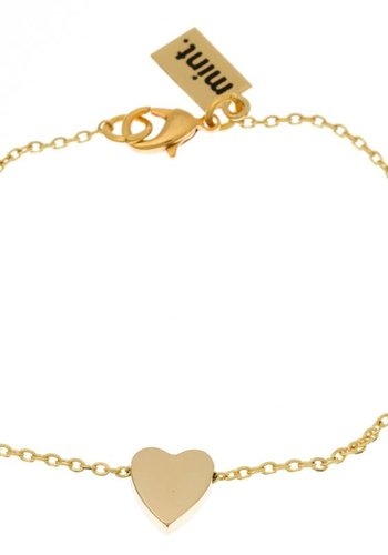 timi of Sweden I Sliding heart bracelet I Gold